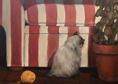 #66 Kitty and Sofa by Eva Soukoreff