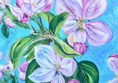 #34 Joyful (flowers) by Christine Sherwood