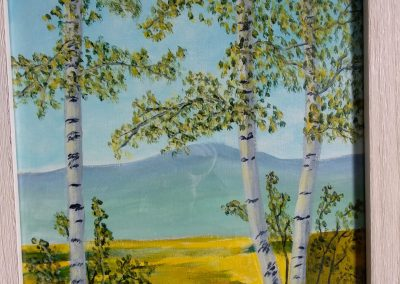 #58 Lonely Birch by Lucille Wallace