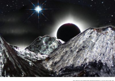 #55 Eclipse Over Barite Mountain by Nancy Gruver Van Wagoner
