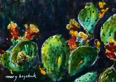 #28 Pear Cacti by Mary Boychuk