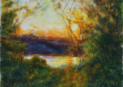 Sunrise at the Lake by Elaine Burns