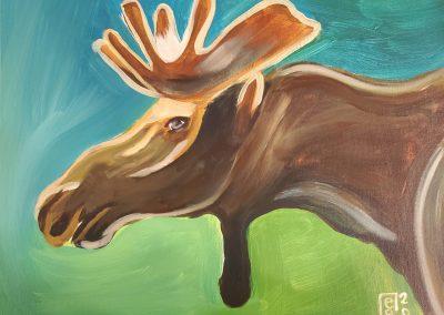 Moose by Elly Grabner