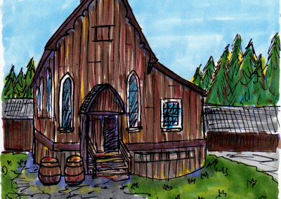 Church at Barkerville by Emma Maddison