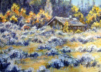 Cabin in the Sagebrush by Judy Mackenzie