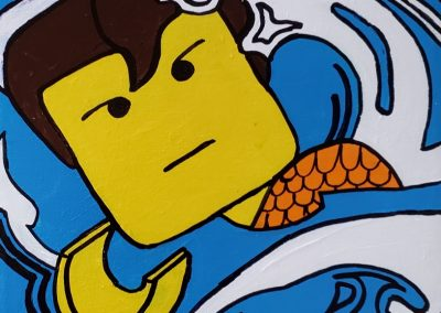 Lego Lichtenstein Aquaman by Patricia House