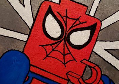 Lego Lichtenstein Spider Man by Patricia House